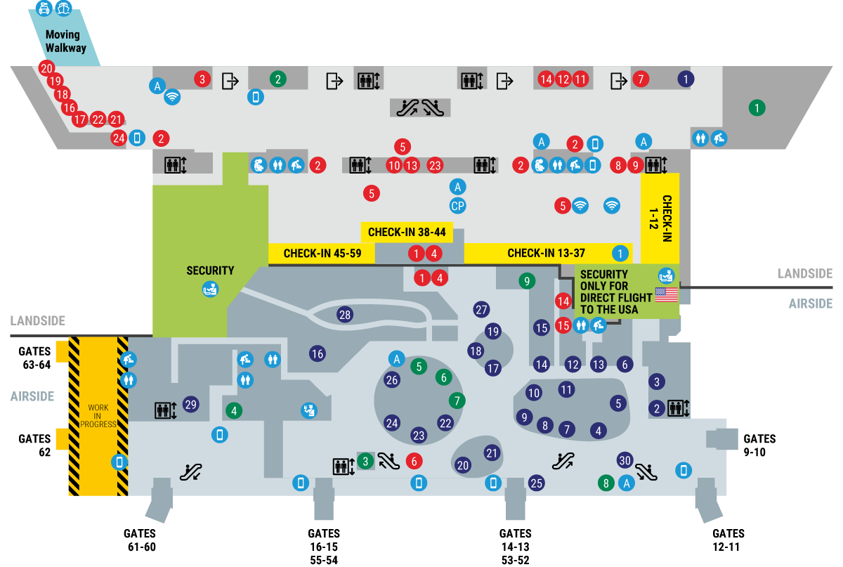 Venice Airport Maps - Dicover all Spaces of the Venice Airport